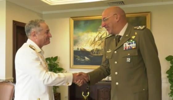 Pak Naval Chief Meeting With Secretary General Of The Italian Defense