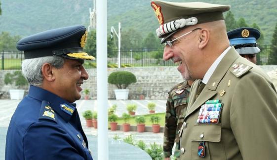 Italian Secretary General Defense Visit Air Headquarters Islamabad