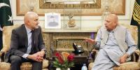 Governor Punjab Meets With Spains Ambassador In Lahore