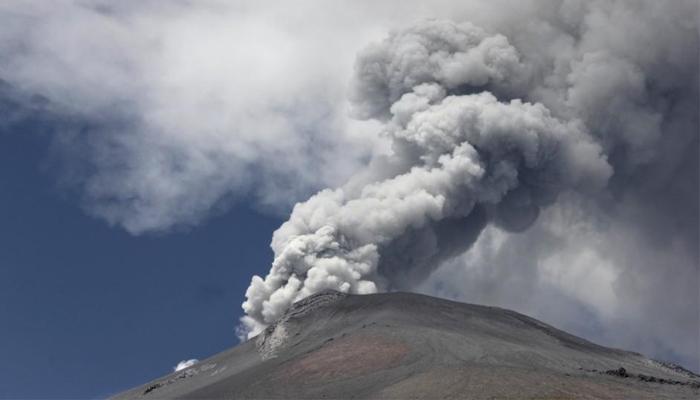 میکسیکو میں آتش فشاں پھر سے متحرک ہوگیا