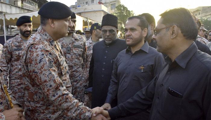 ڈی جی رینجرز کا چہلم سیکیورٹی انتظامات کا جائزہ