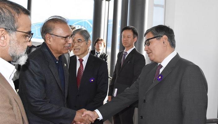 صدر مملکت 4 روزہ دورے پر جاپان پہنچ گئے