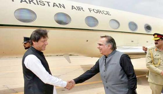 Pm Imran Khan Arrives Karachi For One Day Visit