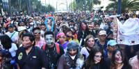 The Dead Come Alive On Mexico City Streets For Zombie Walk