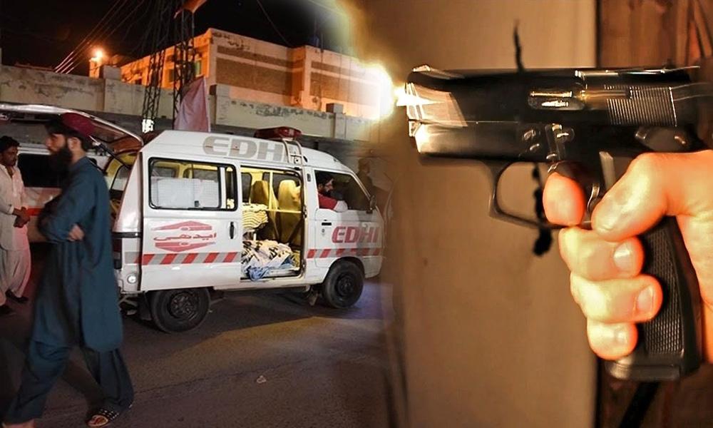کراچی: فائرنگ سے خاتون جاں بحق، سب انسپکٹر حادثے میں زخمی