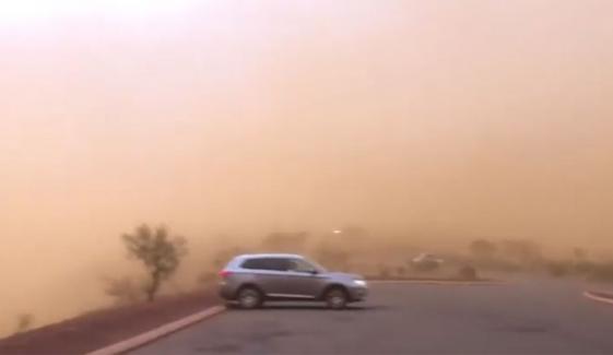 Dust Storm Engulfs Western Australia Youtube