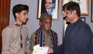 Cm Sindh Murad Ali Shah Gifted A Book To Anas Habib