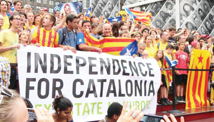 کاتالونیا میں آزادی کے متوالے پھر متحرک ہوگئے