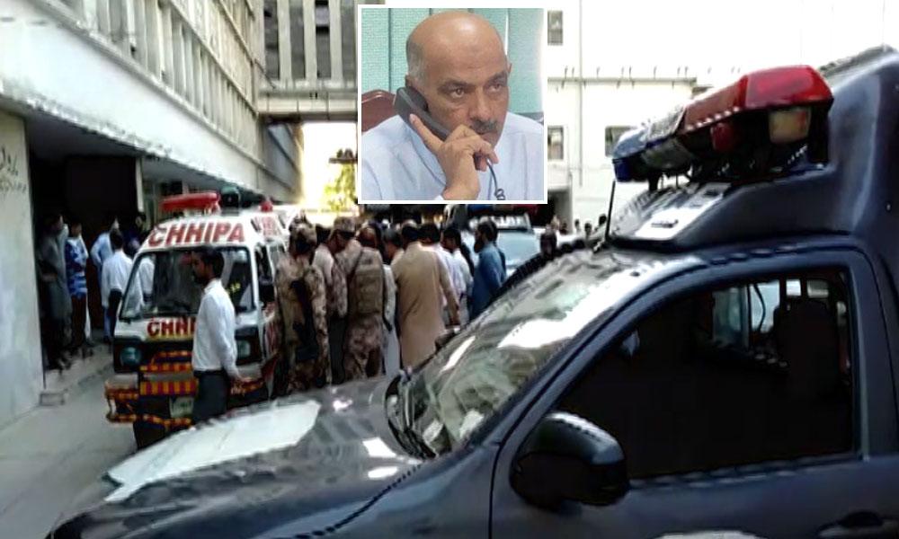 کراچی: ایک شخص نے چندریگر روڈ پر عمارت سے چھلانگ لگا دی