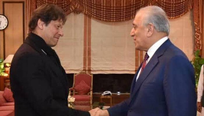 وزیراعظم عمران خان اور زلمےخلیل زاد کے درمیان ملاقات