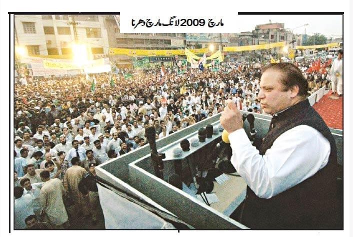 پاکستان سیاست کے احتجاج ،لانگ مارچ اوردھرنے