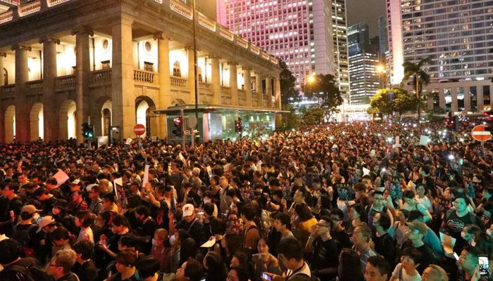 ہانگ کانگ:حکومت مخالفین کاشدید احتجاج