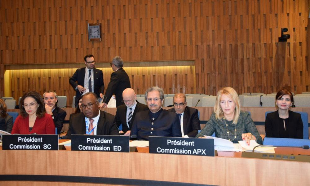 پاکستان کا یونیسکو کے ایجوکیشن کمیشن کے صدر کی حیثیت سے انتخاب