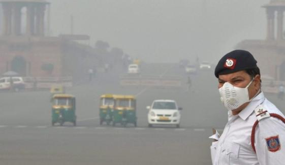 Weather Pollution Smog In New Dehli Schools Closed