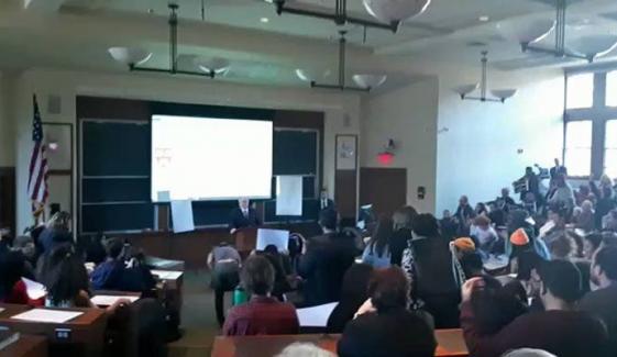 Israel Ambassador Speech Boycott In Harvard University