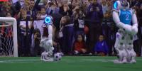 Robots Playing Football In Italy Tournament