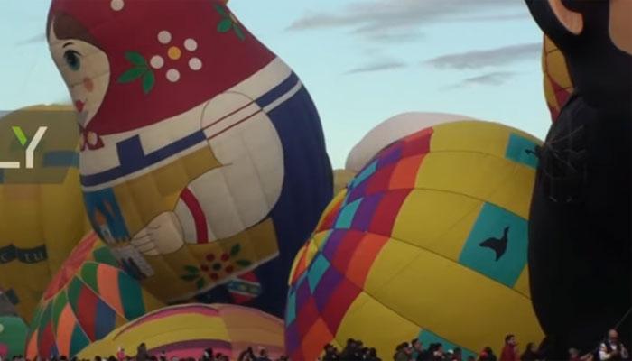 میکسیکومیں 18واں سالانہ ہاٹ ائیر بیلون فیسٹیول