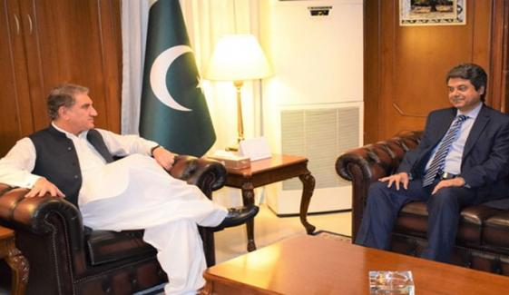Farogh Naseem Meets Shah Mehmood Qureshi In Foreign Office