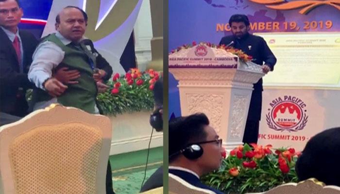 کمبوڈیا: قاسم سوری کو روکنے پر بھارتی وفد کو شرمندگی