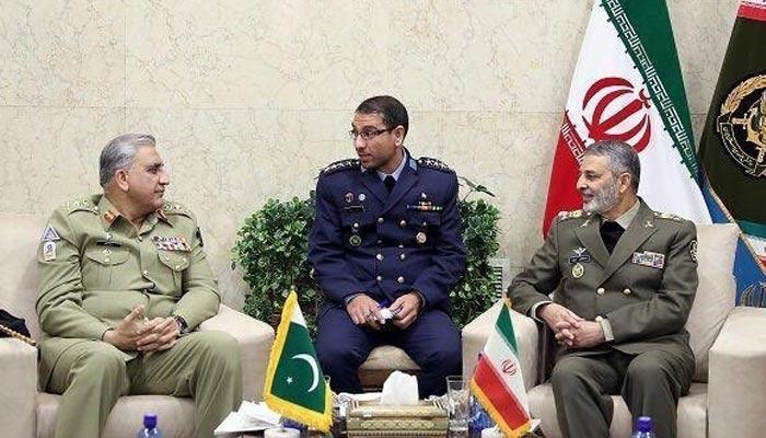 آرمی چیف کی سیکریٹری ایرانی سکیورٹی کونسل سے ملاقات