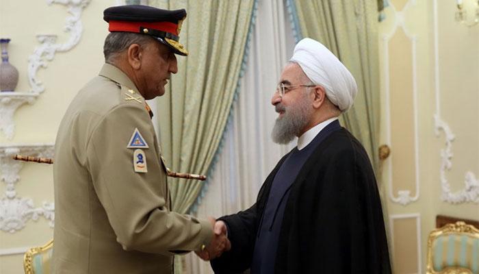 آرمی چیف کی ایرانی صدر روحانی سے ملاقات