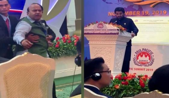 Indian Delegation Faces Embarrassment To Stop Qasim Suri From Speech In Cambodia