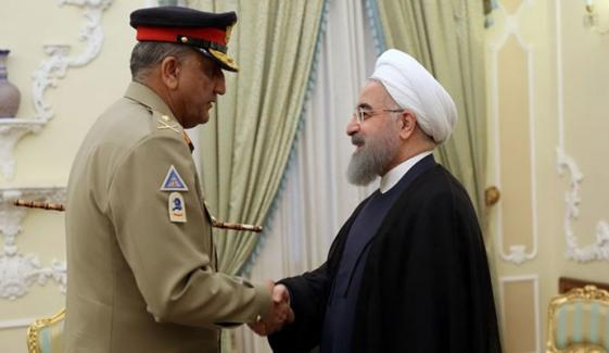 Army Chief Meet Iranian President Rohani