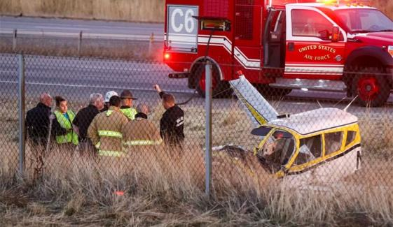 Small Plane Crashes On Utah Highway