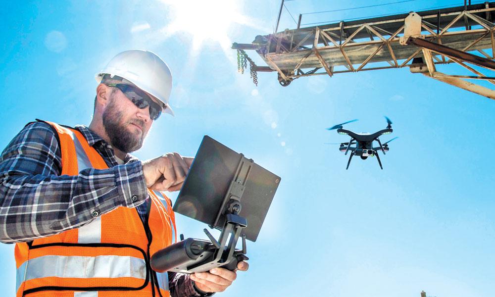 تعمیرات میں ڈرونز کا استعمال