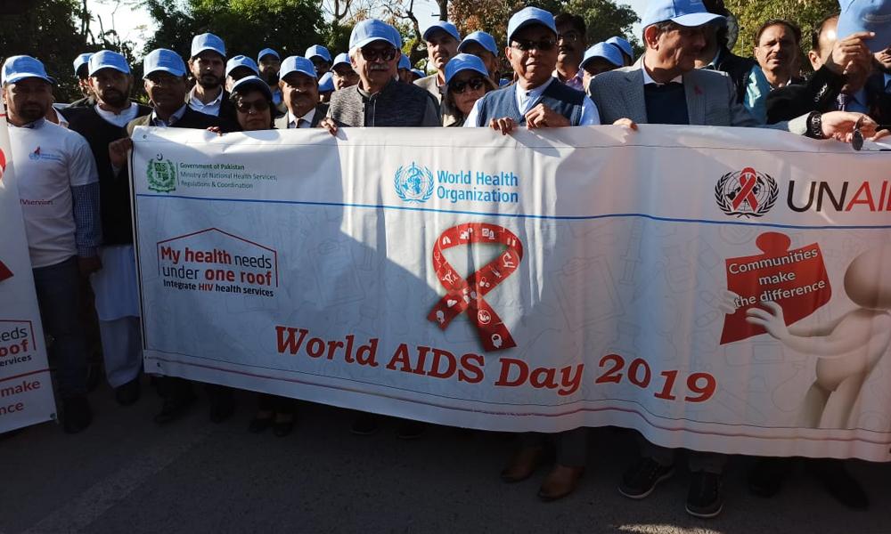 پاکستان، 17فیصدHIVپوزیٹو افراد اپنی بیماری سے لا علم ہیں