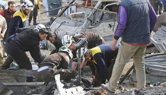 شام: ادلب میں بمباری، 10 شہری جاں بحق