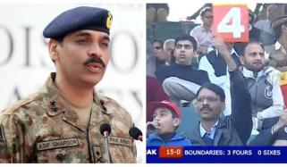 Dg Ispr Enjoying Match At Rawalpindi Stadium