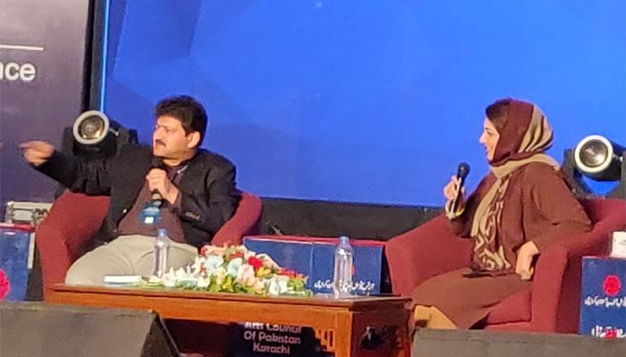 ادب کی ترقی، اردو اور علاقائی زبانوں کوقومی درجہ دینا ہوگا، حامد میر