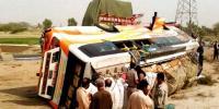 2 Killed 10 Injured As Bus Overturns In Daharki