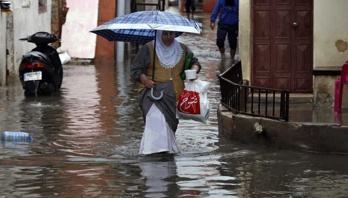 لبنان میں طوفانی بارشوں کے بعد سیلابی صورتحال