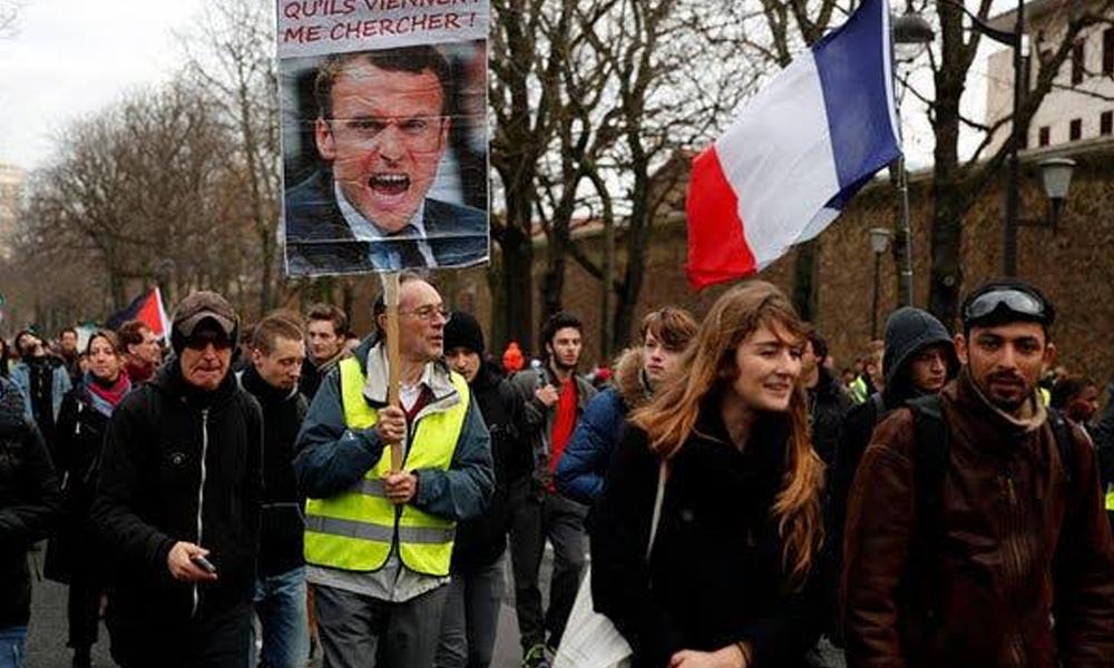 پیرس، پینشن اصلاحات کے خلاف 9 ویں روز بھی جاری