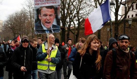 Protest Against Reforms In Pension In Paris
