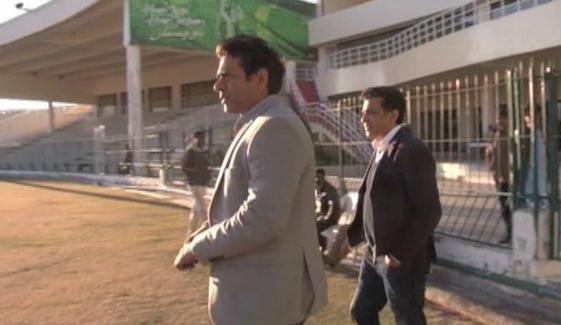 Aqib Javed And Atif Rana Visit Nawab Akbar Khan Bugti Cricket Stadium