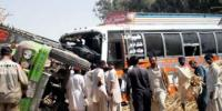 13 Killed In Truck And Coach Collision At Qila Saifullah