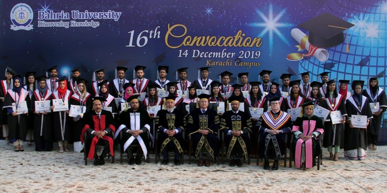 کراچی: بحریہ یونیورسٹی اور نیوی اسکول آف لاجسٹکس کے کانووکیشن