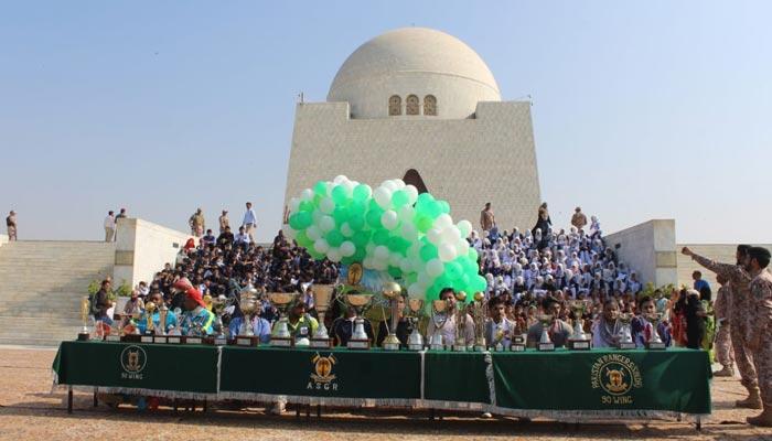'رینجرزشکریہ جناح': فٹبال چیمپئن شپ کی اختتامی تقریب