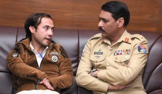 Dg Ispr Maj General Asif Ghafoor Meets Afzal Khan