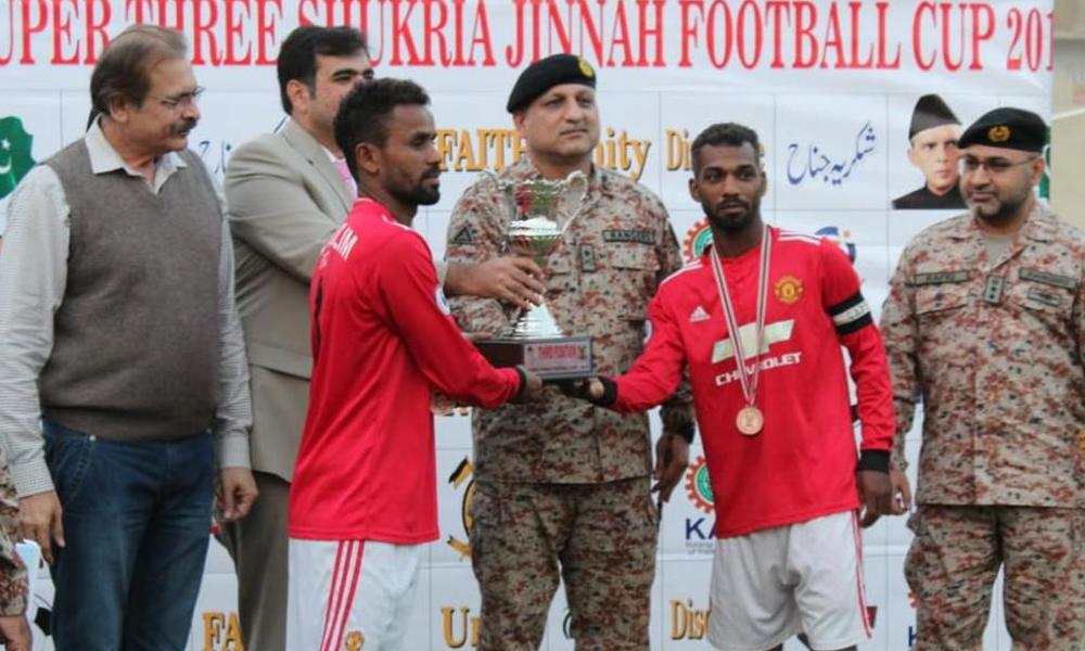 فٹبال چیمپئن شپ 'رینجرزشکریہ جناح'کی اختتامی تقریب کا انعقاد