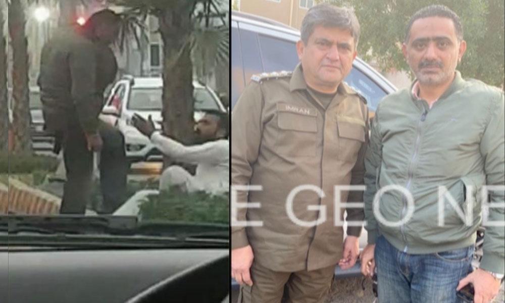 لاہور،سرعام شہری پر تشدد کرنے والا جیپ سوار گرفتار