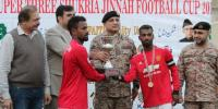 Foot Ball Championship Rangers Thanks Jinnah End Ceremony Held