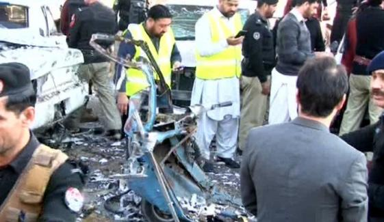 Blast In Rikshaw Outside Peshawar High Court