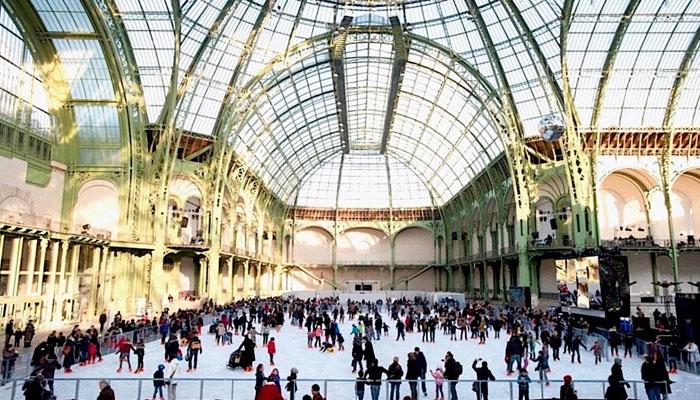 پیرس میں دنیا کی سب سے بڑی آئس رِنک