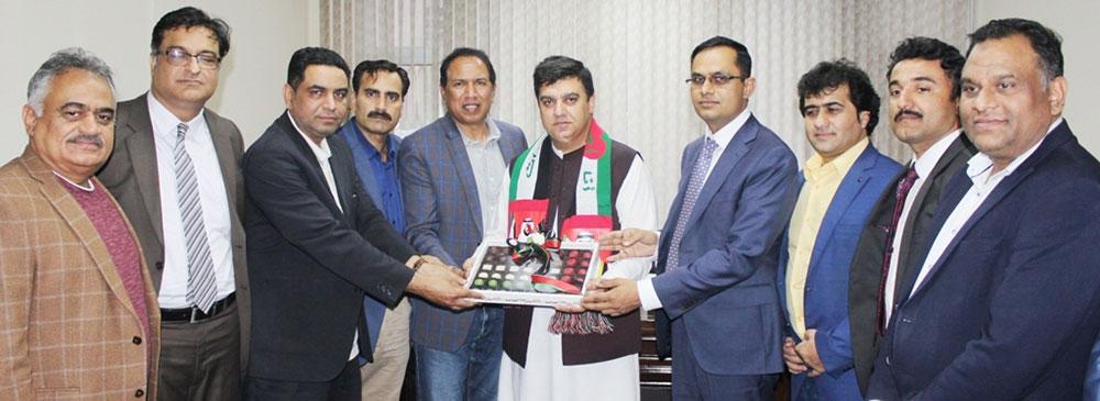 قونصل جنرل آف پاکستان دبئی، احمد امجد علی کی پی جے ایف کے وفد سے ملاقات