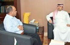 پاکستانی قونصل جنرل خالد مجید کی چیئرمین ایس پی آئی اے آئی سی سے ملاقات