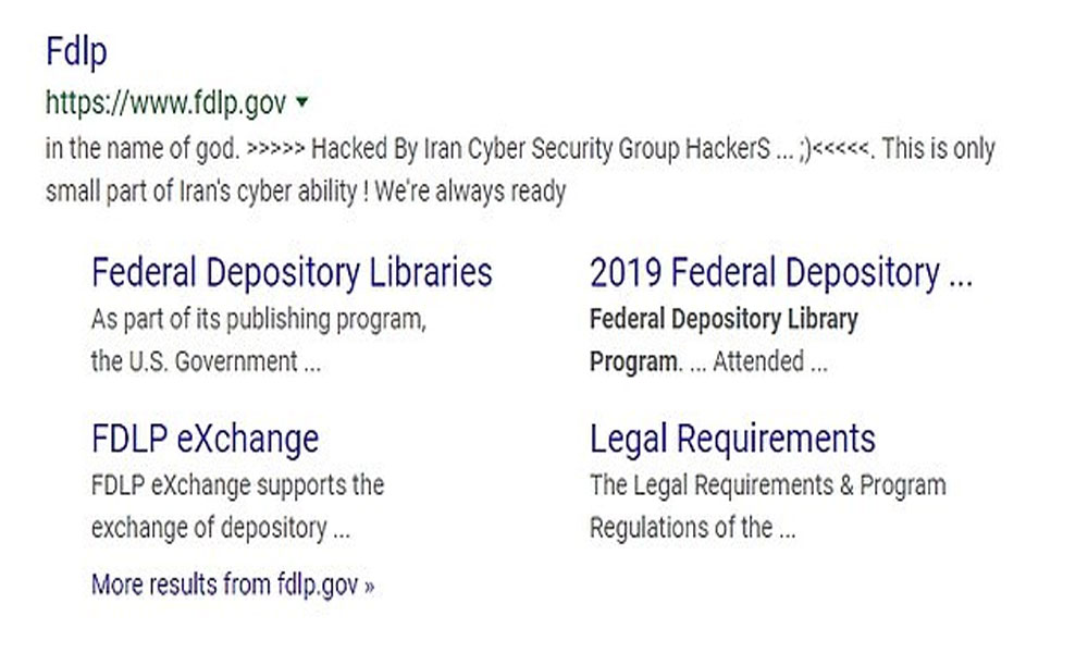 امریکی حکومتی ایجنسی کی ویب سائٹ ہیک